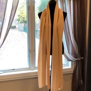 Champagne pale pink winter scarf